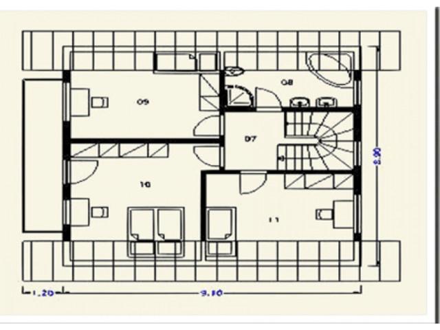 Einfamilienhaus Rheineck - Grundriss DG
