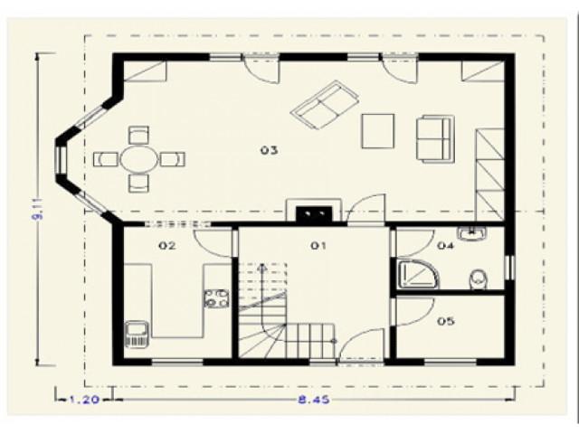 Einfamilienhaus Rosenburg - Grundriss EG