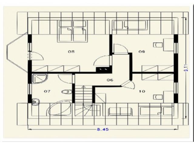 Einfamilienhaus Rosenburg - Grundriss DG