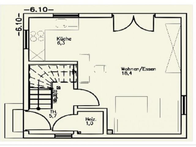 Einfamilienhaus St. Pölten 01 - Grundriss EG
