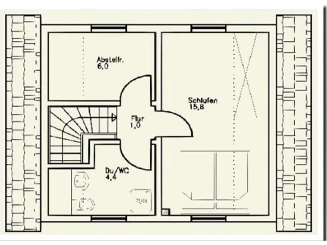 Einfamilienhaus St. Pölten 01 - Grundriss DG