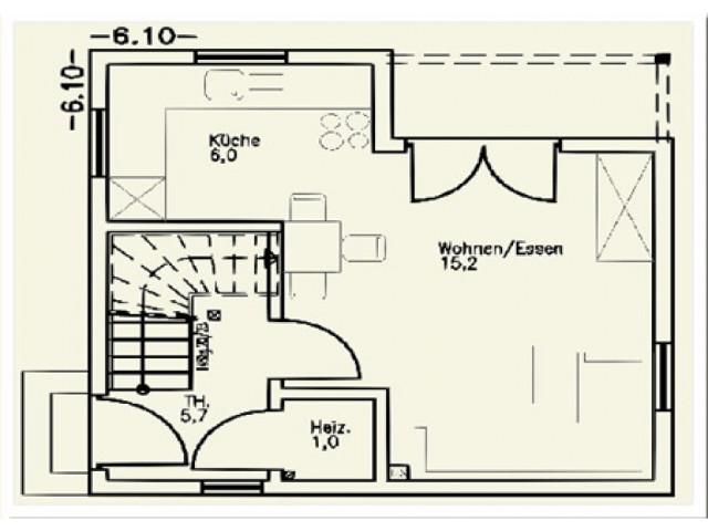Einfamilienhaus St. Pölten 02 - Grundriss EG