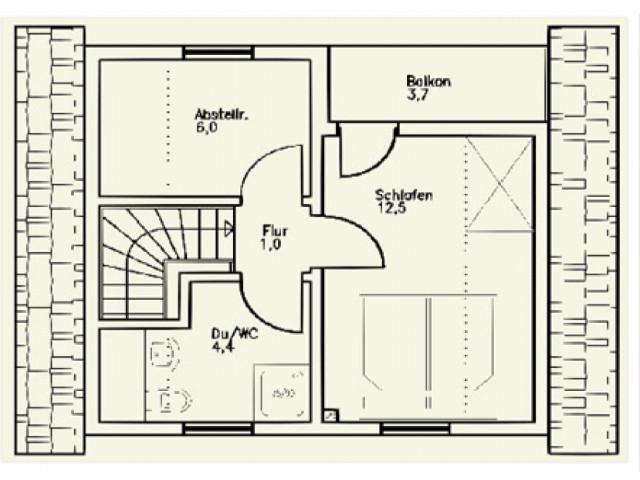 Einfamilienhaus St. Pölten 02 - Grundriss DG