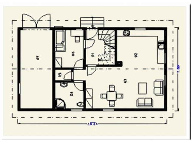 Einfamilienhaus Tanne - Grundriss EG