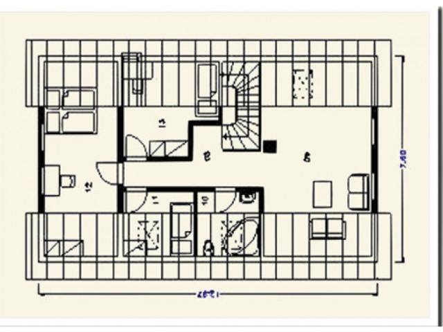 Einfamilienhaus Tanne - Grundriss DG