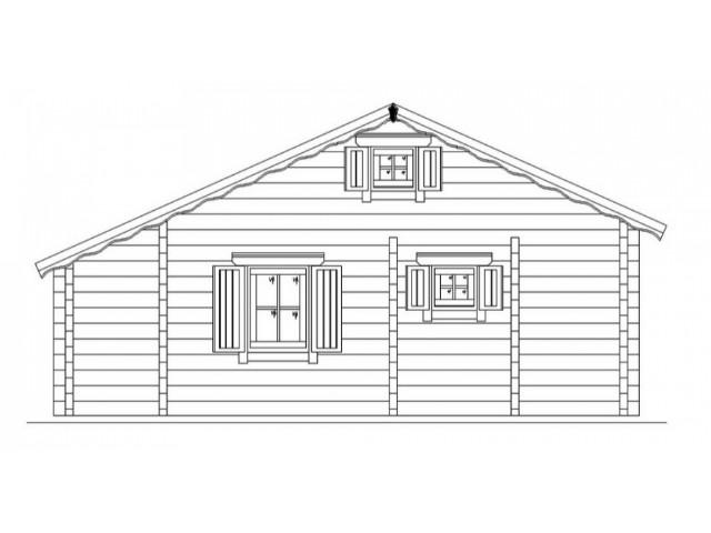 Blockhaus Alm - Außenansicht 3