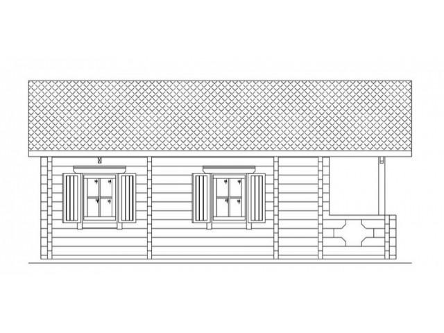 Blockhaus Alm - Außenansicht 5