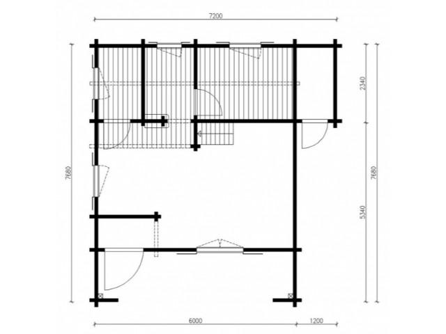 Blockhaus Alm - Grundriss
