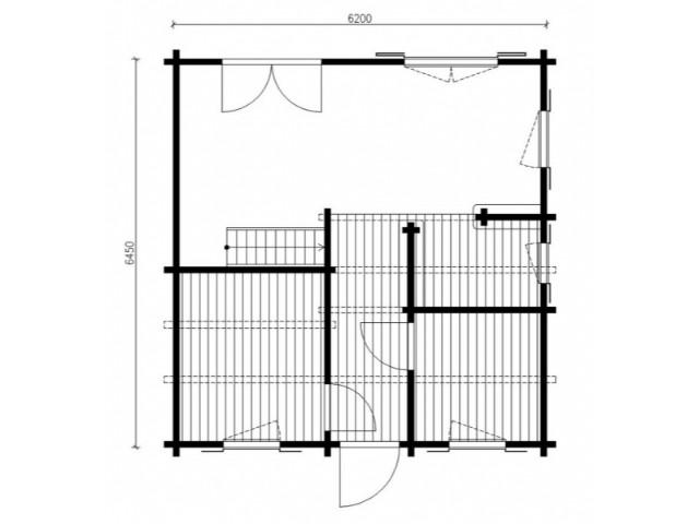 Blockhaus Anklam - Grundriss