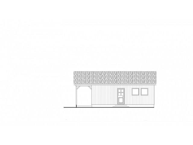 Ferienhaus Bodensee 70 - Seitenansicht