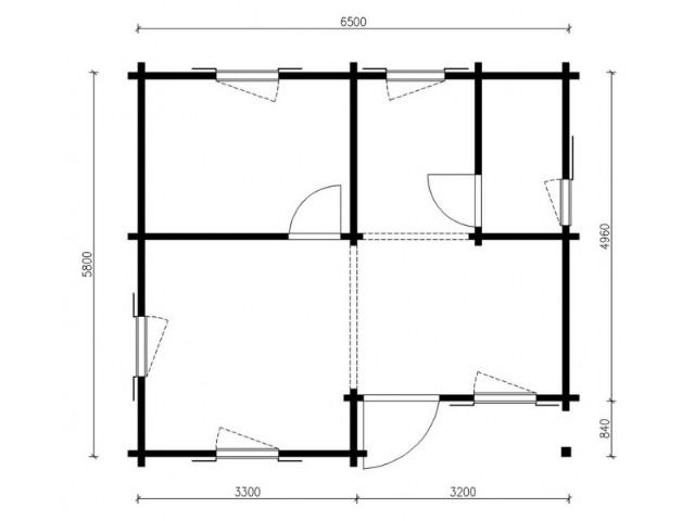 Blockhaus Ferch - Grundriss