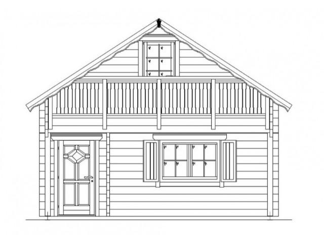 Blockhaus Heide - Außenansicht 2