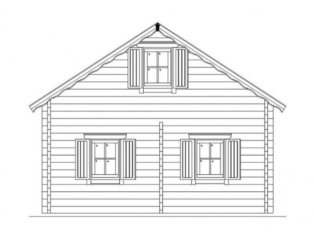 Blockhaus Heide - Außenansicht 3