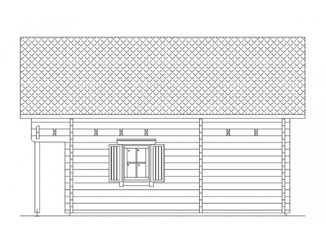 Blockhaus Heide - Außenansicht 4