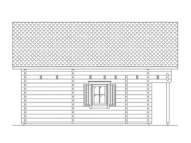 Blockhaus Heide - Außenansicht 5