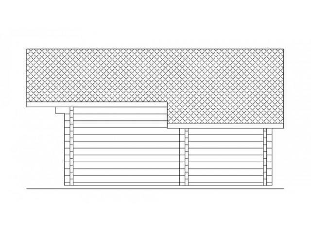 Blockhaus Kamp 01 - Außenansicht 4
