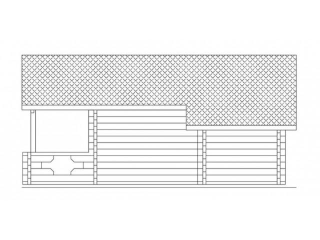 Blockhaus Kamp 02 - Außenansicht 4
