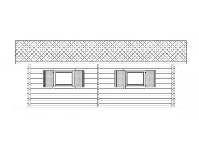 Blockhaus Mahlsdorf - Außenansicht 5