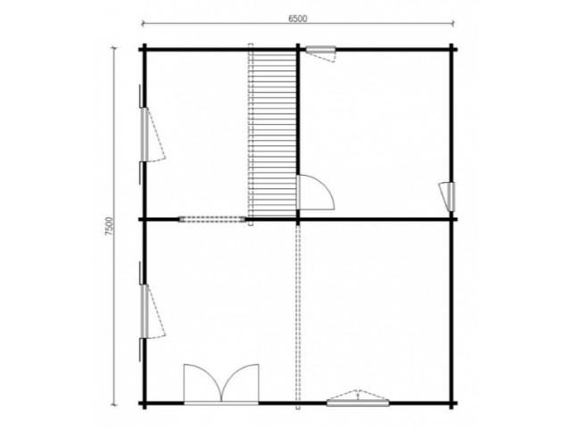 Blockhaus Mahlsdorf - Grundriss