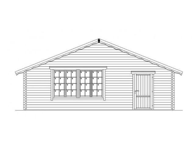 Blockhaus Mirow - Außenansicht 2