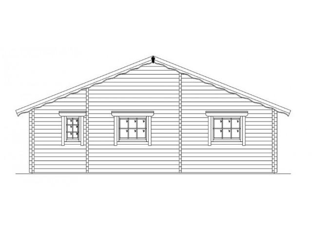 Blockhaus Mirow - Außenansicht 3