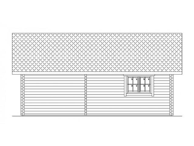 Blockhaus Mirow - Außenansicht 4