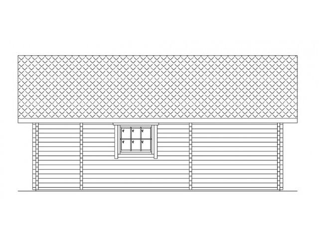Blockhaus Mirow - Außenansicht 5