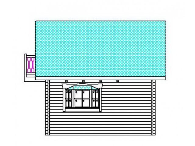 Blockhaus Warnsdorf - Außenansicht 3