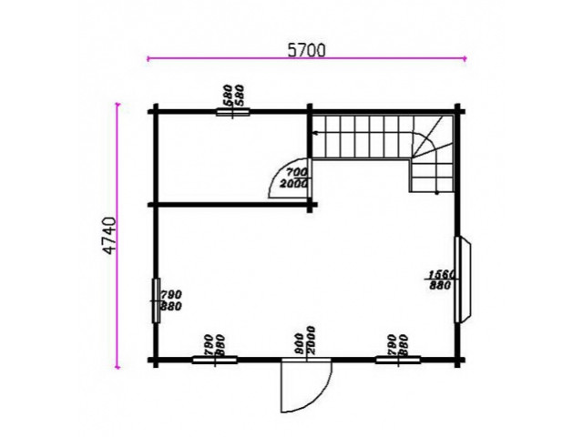 Blockhaus Warnsdorf - Grundriss EG