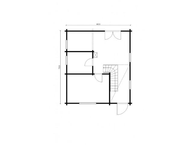 Blockhaus Werbellin - Grundriss EG