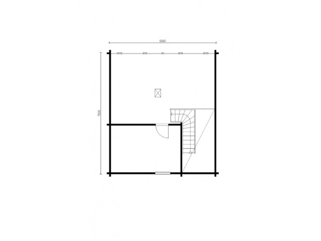 Blockhaus Werbellin - Grundriss OG