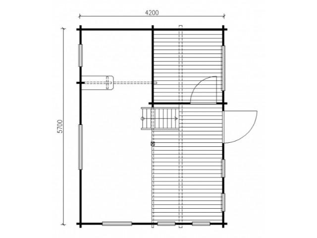 Gartenhaus Dessau - Grundriss