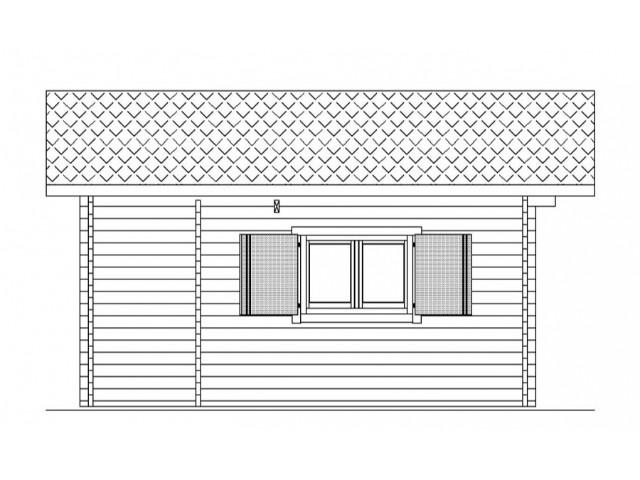 Gartenhaus Erkner - Seitenansicht