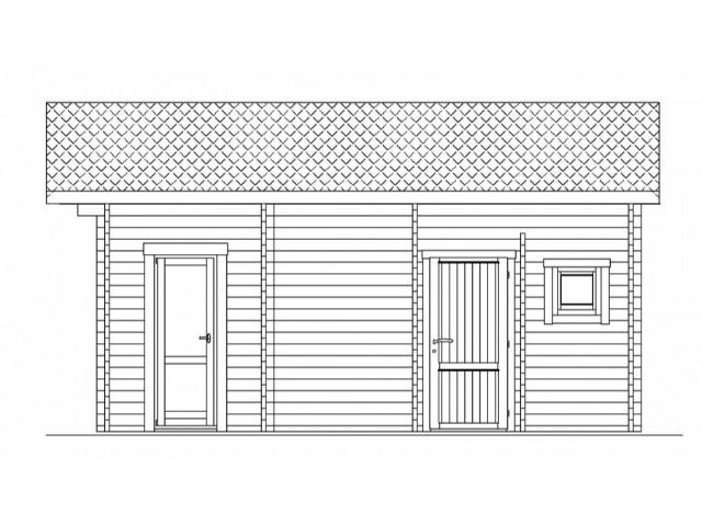 Gartenhaus Finow - Seitenansicht