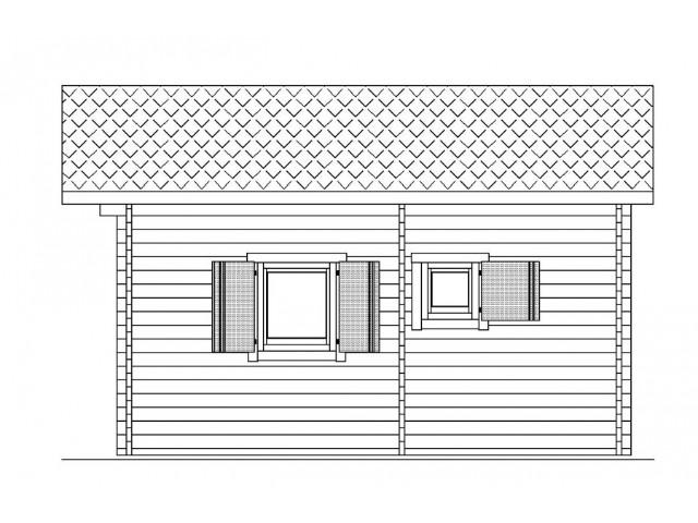 Gartenhaus Ilmenau 02 - Seitenansicht