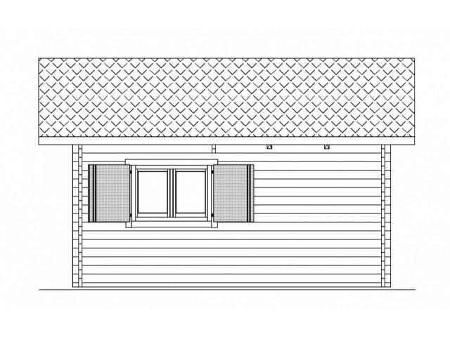 Gartenhaus Linde - Seitenansicht