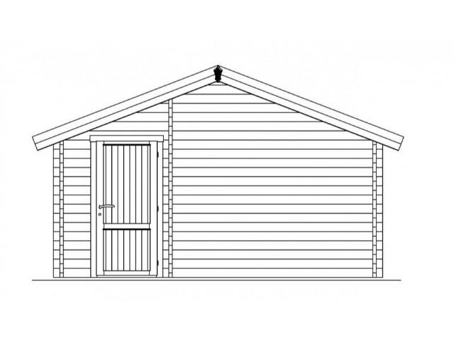 Gartenhaus Sylt - Rückansicht