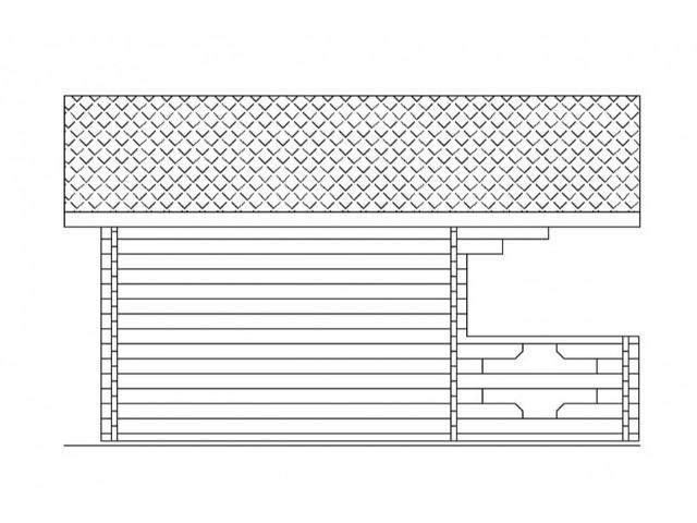 Gartenhaus Sylt - Seitenansicht