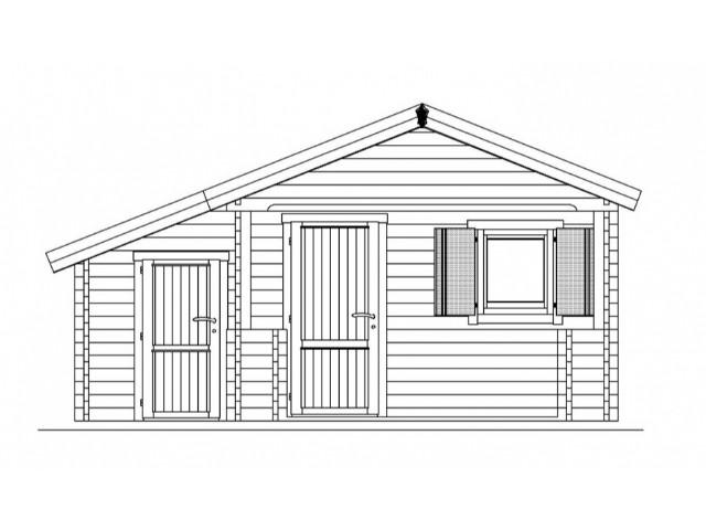 Gartenhaus Tegel - Frontansicht