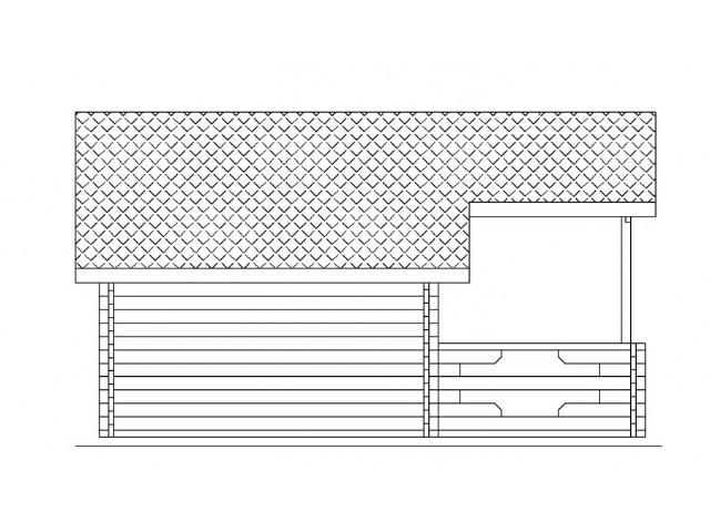 Gartenhaus Tegel - Seitenansicht
