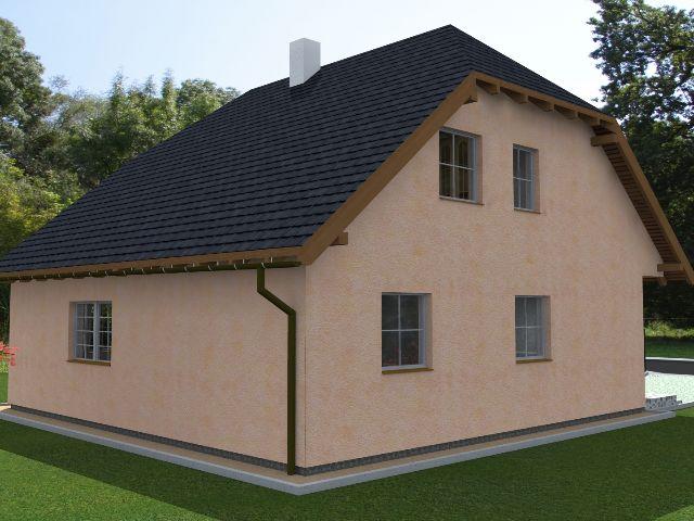Einfamilienhaus Klassik 01 - Seitenansicht