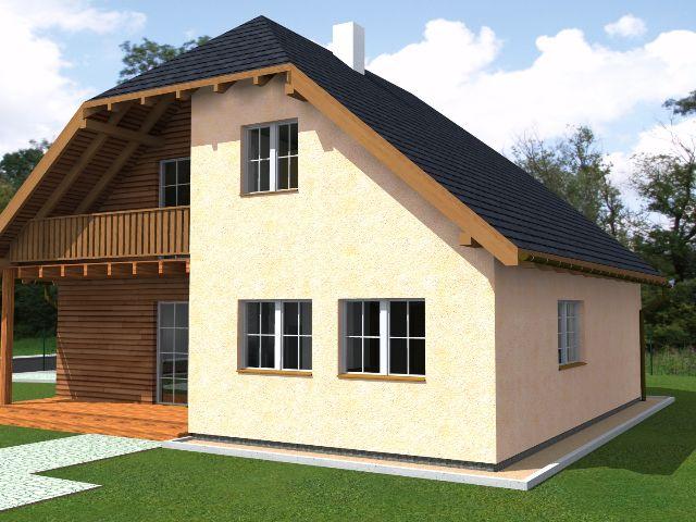 Einfamilienhaus Klassik 01 - Gartenansicht