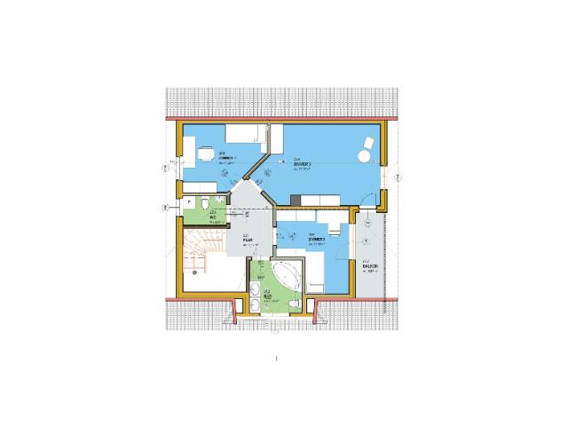 Einfamilienhaus Klassik 01 - Grundriss DG