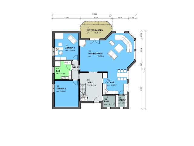 Einfamilienhaus Klassik 03 - Grundriss EG
