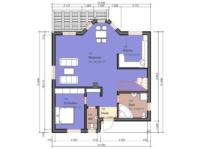 Einfamilienhaus Klassik 04 - Grundriss EG