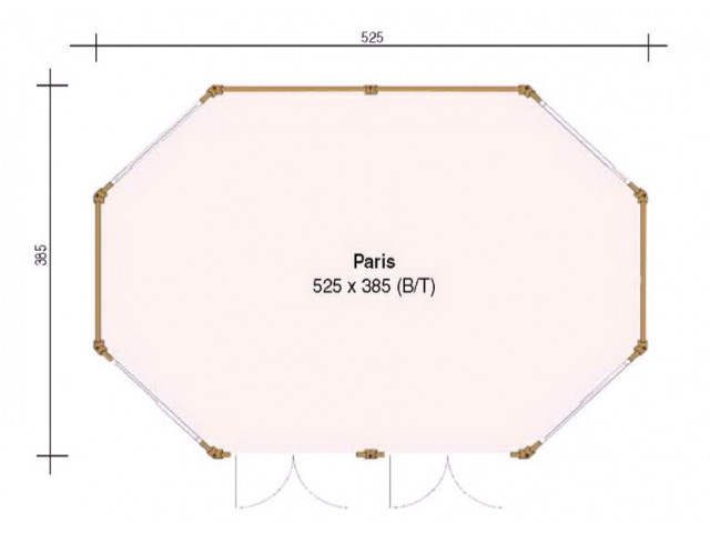 Pavillon Paris 525 x 385 - Grundriss