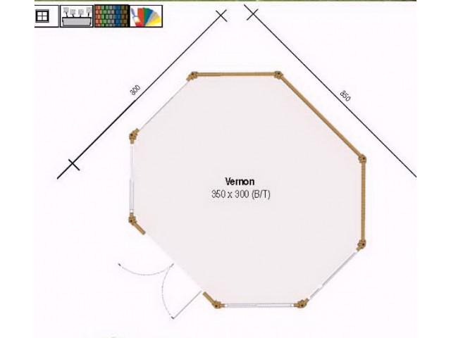 Pavillon Vernon 350 x 300 - Grundriss