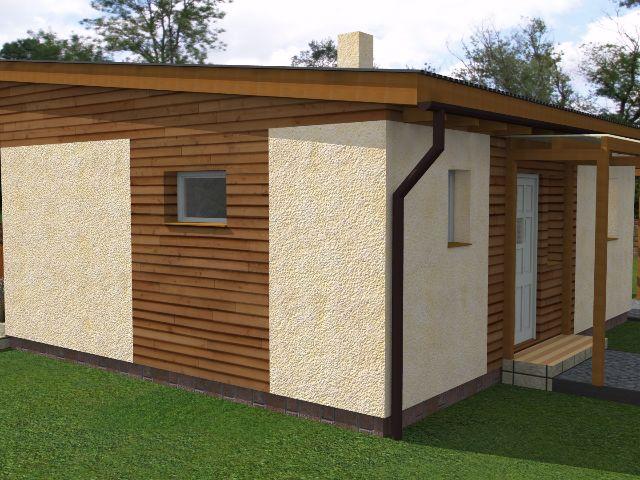 Haus mit Pultdach Pult 01 - Seitenansicht