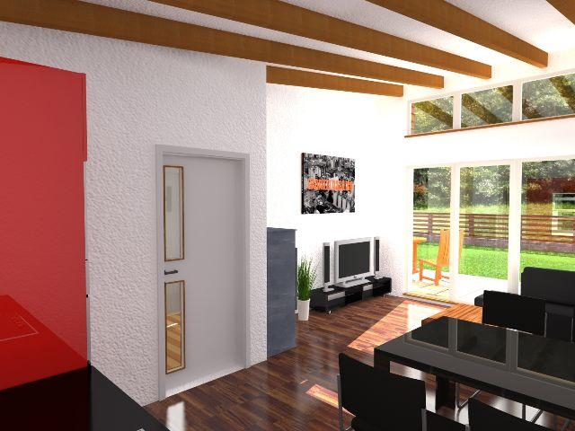 Haus mit Pultdach Pult 01 - Essbereich