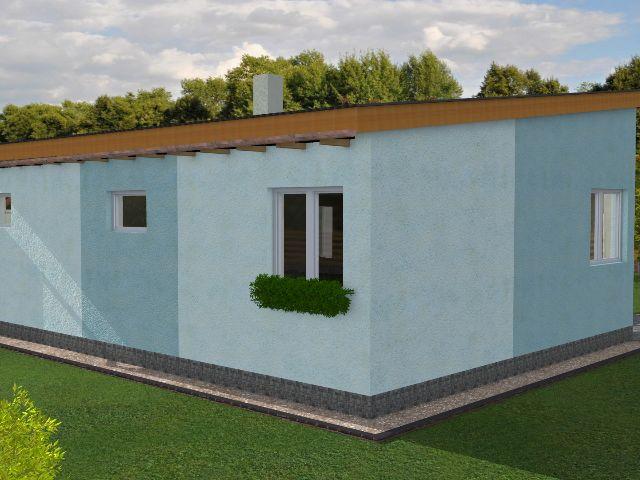 Haus mit Pultdach Pult 02 - Seitenansicht